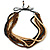 Multi-Strand Brown/ Black/ Cream Wood Bead Adjustable Cord Necklace - 46cm to 58cm - view 2