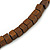 Multi-Strand Brown/ Black/ Cream Wood Bead Adjustable Cord Necklace - 46cm to 58cm - view 6