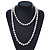 10mm Off Round Cream Freshwater Pearl Long Rope Necklace - 116cm L - view 3