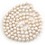 10mm Off Round Cream Freshwater Pearl Long Rope Necklace - 116cm L - view 2