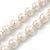 10mm Off Round Cream Freshwater Pearl Long Rope Necklace - 116cm L - view 4