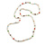 Long Rope White Baroque Shape Freshwater Pearl, Multicoloured Glass Bead Necklace - 116cm L - view 10