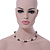 9mm-10mm Light Cream/ Black Baroque Freshwater Pearl Necklace In Silver Tone - 46cm L - view 3
