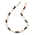 9mm-10mm Light Cream/ Black Baroque Freshwater Pearl Necklace In Silver Tone - 46cm L