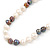9mm-10mm Light Cream/ Black Baroque Freshwater Pearl Necklace In Silver Tone - 46cm L - view 6