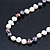 9mm-10mm Light Cream/ Black Baroque Freshwater Pearl Necklace In Silver Tone - 46cm L - view 10