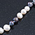 9mm-10mm Light Cream/ Black Baroque Freshwater Pearl Necklace In Silver Tone - 46cm L - view 5