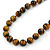 12mm Tiger Eye Round Semi-Precious Stone Necklace With Spring Ring Clasp - 44cm L - view 6