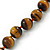 12mm Tiger Eye Round Semi-Precious Stone Necklace With Spring Ring Clasp - 44cm L - view 3