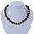 12mm Tiger Eye Round Semi-Precious Stone Necklace With Spring Ring Clasp - 44cm L - view 5