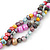 7-8mm Multicoloured Baroque Freshwater Pearl, 3 Strand Twisted Necklace - 46cm L/ 5cm Ext - view 6