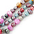 7-8mm Multicoloured Baroque Freshwater Pearl, 3 Strand Twisted Necklace - 46cm L/ 5cm Ext - view 4