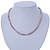 6-7mm Lilac Semi-Round Freshwater Pearl Necklace In Silver Tone - 43cm L - view 5