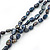 7mm Black/ Grey Rice Freshwater Pearl, 3 Strand Twisted Necklace - 41cm L/ 5cm Ext - view 3