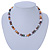 8mm Multicoloured Oval Freshwater Pearl Necklace In Silver Tone - 39cm L/ 4cm Ext - view 6