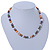 8mm Multicoloured Oval Freshwater Pearl Necklace In Silver Tone - 39cm L/ 4cm Ext - view 7