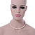 12mm Rice Shaped White Freshwater Pearl Necklace In Silver Tone - 41cm L/ 6cm Ext - view 3