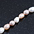 5-6mm Cream/ White/ Pink Rice Freshwater Pearl Necklace - 41cm L/ 5cm Ext - view 6