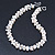 7-8mm White Baroque Freshwater Pearl, Transparent Crystal Bead Cluster Necklace - 42cm L/ 4cm Ext - view 6