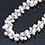 7-8mm White Baroque Freshwater Pearl, Transparent Crystal Bead Cluster Necklace - 42cm L/ 4cm Ext - view 7