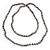 9mm Ringed Shaped Grey Coloured Freshwater Pearl Long Rope Necklace - 116cm L - view 2