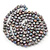 9mm Ringed Shaped Grey Coloured Freshwater Pearl Long Rope Necklace - 116cm L - view 4