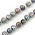 9mm Ringed Shaped Grey Coloured Freshwater Pearl Long Rope Necklace - 116cm L - view 5