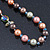 Multicoloured Shell Pearls with Crystal Glass Beads Long Necklace - 80cm L - view 10