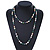 Long Rope Baroque Shape Multicoloured Freshwater Pearl Necklace - 116cm L - view 4