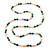 Long Rope Baroque Shape Multicoloured Freshwater Pearl Necklace - 116cm L - view 1