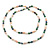 Long Rope Baroque Shape Multicoloured Freshwater Pearl Necklace - 116cm L - view 6