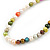 7mm Multicoloured Semi-Round Freshwater Pearl Necklace In Silver Tone - 36cm L/ 4cm Ext - view 7
