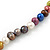 7mm Multicoloured Semi-Round Freshwater Pearl Necklace In Silver Tone - 36cm L/ 4cm Ext - view 3