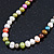 7mm Multicoloured Semi-Round Freshwater Pearl Necklace In Silver Tone - 36cm L/ 4cm Ext - view 9