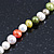 7mm Multicoloured Semi-Round Freshwater Pearl Necklace In Silver Tone - 36cm L/ 4cm Ext - view 10