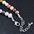 7mm Multicoloured Semi-Round Freshwater Pearl Necklace In Silver Tone - 36cm L/ 4cm Ext - view 4