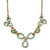 Vintage Inspired Mint Green Enamel Floral Necklace In Gold Tone - 36cm L/ 6cm Ext