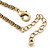 Victorian Style Filigree Oval Beaded Pendant With Chunky Chain In Antique Gold Tone - 40cm L/ 5cm Ext - view 6