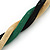 Gold/ Black/ Green Twisted Mesh Necklace - 38cm L/ 4cm Ext - view 5