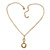 Gold Tone Cut Out Heart/ Mother Of Pearl Heart Pendant with Chunky Oval Link Chain - 40cm L/ 5cm Ext - view 4