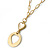 Gold Tone Cut Out Heart/ Mother Of Pearl Heart Pendant with Chunky Oval Link Chain - 40cm L/ 5cm Ext - view 3