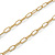 Gold Tone Cut Out Heart/ Mother Of Pearl Heart Pendant with Chunky Oval Link Chain - 40cm L/ 5cm Ext - view 6
