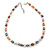 9mm Multicoloured Oval Freshwater Pearl Necklace In Silver Tone - 39cm L/ 4cm Ext - view 6