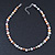 9mm Multicoloured Oval Freshwater Pearl Necklace In Silver Tone - 39cm L/ 4cm Ext - view 7