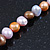 9mm Multicoloured Oval Freshwater Pearl Necklace In Silver Tone - 39cm L/ 4cm Ext - view 9