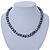 10mm Grey Potato Freshwater Pearl Necklace In Silver Tone - 41cm L/ 6cm Ext - view 4