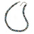 10mm Grey Potato Freshwater Pearl Necklace In Silver Tone - 41cm L/ 6cm Ext - view 9