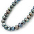 10mm Grey Potato Freshwater Pearl Necklace In Silver Tone - 41cm L/ 6cm Ext - view 7
