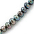 10mm Grey Potato Freshwater Pearl Necklace In Silver Tone - 41cm L/ 6cm Ext - view 5