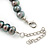 10mm Grey Potato Freshwater Pearl Necklace In Silver Tone - 41cm L/ 6cm Ext - view 6